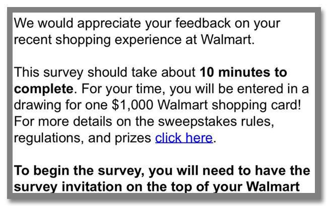 """世界最大のスーパーマーケットチェーン""""Walmart(ウォルマート)""""のギフトカードが当たるアンケート調査キャンペーン_3枚目"""