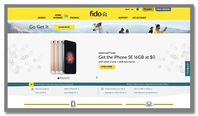 カナダの携帯ショップ「Fido」ギフトカードが当たるアンケートキャンペーン_1枚目